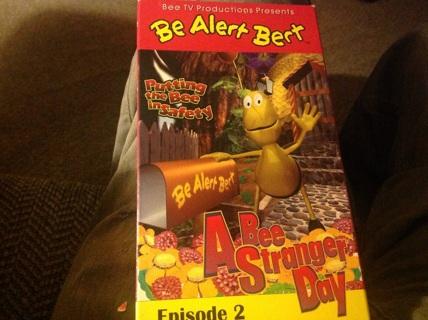 VHS- BE ALERT BURT - ABEE STRANGER DAY