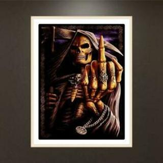 Skull 5D Full Diamond Embroidery Painting DIY Painting Cross Stitch Homes