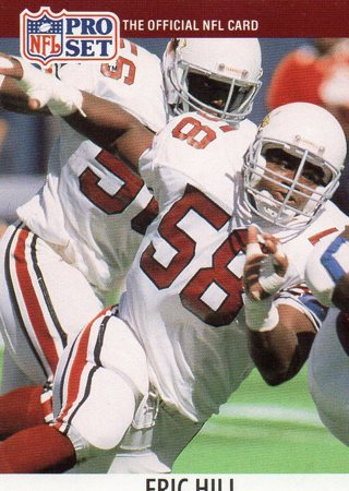 1990 Pro Set Football Card Cardinals Eric Hill