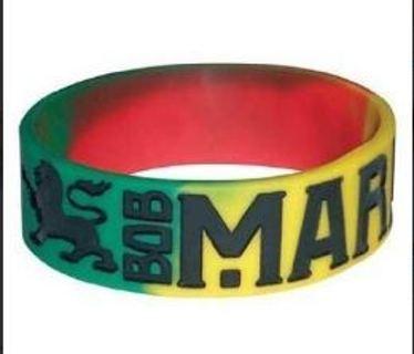 2 pack bob marley bracelet rasta wristband reggea dub hot topic