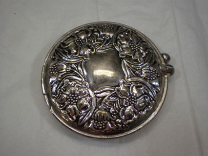Free Vintage Silver Or Silver Plate Mirror Compact