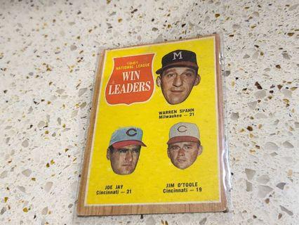 1962 National League Win Leaders Warren Spahn ,Joe Jay, Jim O Toole