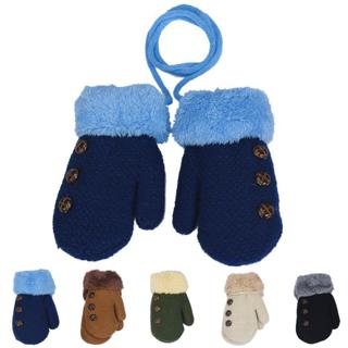 Winter Baby Boy girl gloves Cotton kids full finger mittens Leaf Warm rope children solid gloves A