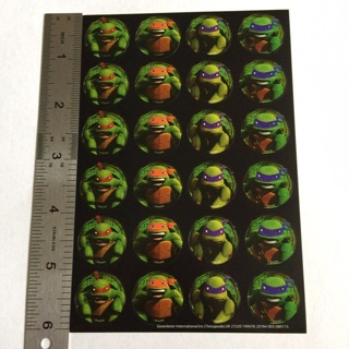 TMNT Teenage Mutant Ninja Turtle Sticker Sheet BRAND NEW #3
