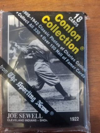 Conlon Collection of Baseball Cards 1905-1942 sealed set of 18 unknown players it's a Surprise