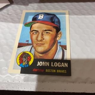 1953 topps archives John Logan baseball card