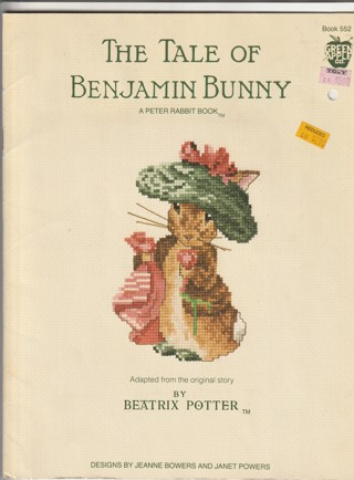 Cross Stitch Craft Leaflet: The Tail of Benjamin Bunny