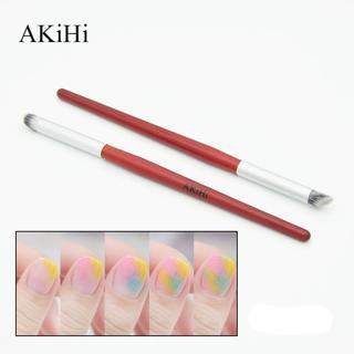 AKiHi Nail Paiting Drawing Art Pen Gradient Dizzy Dye Nail Brushes