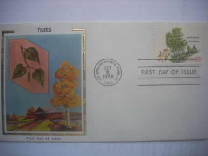 """1978 Trees """"SILK"""" First Day Cover"""