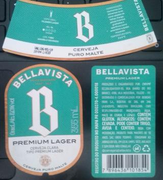 BELLAVISTA 355ml beer label