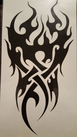 5 very large body tattoos / all 8x6 inches of tattoo , FREE SHIPPING