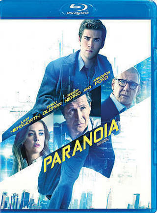 2013 Paranoia-Blu-ray SPY Movie Disc-Liam Hemsworth, Harrison Ford-New & Sealed-English & French!