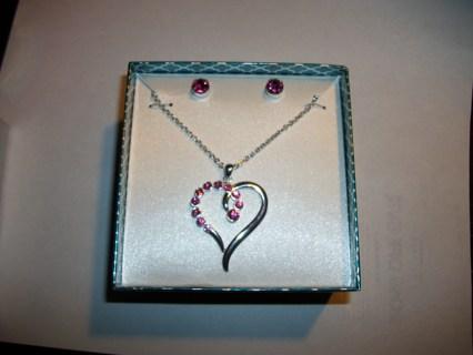 "Silver Necklace & Earring Set ""NIB"""