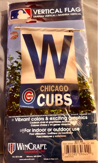 "BNIP MLB Officially Licensed: Chicago CUBS 27 x 37"" Vertical ""W"" Flag!!"