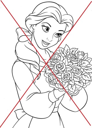 Disney Princess Beauty and the Beast Coloring Pages   ***CLASSIC THEME # 2***
