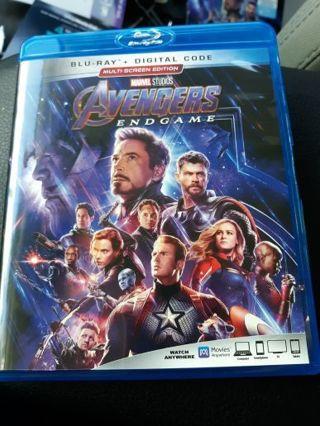 Marvel Avengers Endgame Blue Ray Auction #2