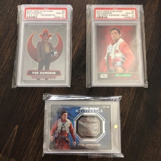 Star Wars Topps Collectors lot of 3 cards PSA-10