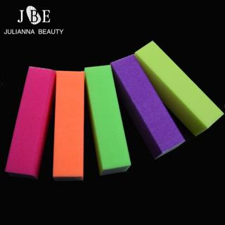 5Pcs Fluorescent Forms Durable Nails Art Tools Buffing Sanding High-elastic Files Block Manicure C