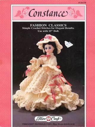 Free Constance 15 Crochet Doll Dress Pattern Crochet Listia