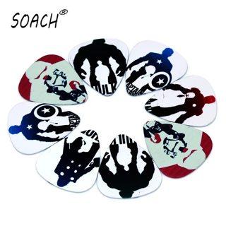 SOACH 10PCS 0.71mm high quality guitar picks two side acoustic guitarra paddle earrings DIY Mix