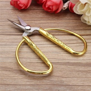[GIN FOR FREE SHIPPING] European Vintage Gold Sewing Scissors Embroidery