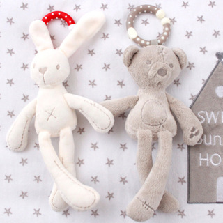 Baby Crib Stroller Toy Rabbit Bunny Bear Soft Plush
