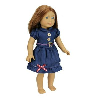 New Arrival Fashion Jean Skirt For 18 inch American Girl Doll Clothes