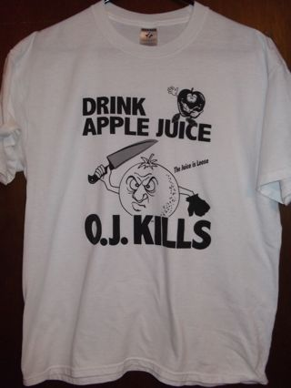 Classic OJ Simpson The Juice Is Loose FUNNY T-Shirt Large
