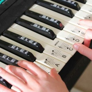 Music Keyboard or Piano Stickers 88KEY SET Educational clear LAMINATED stickers#