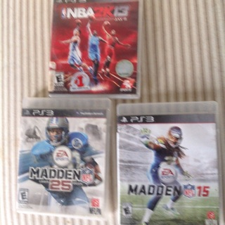 Madden 15&25 and NBA 2K16 for PS3