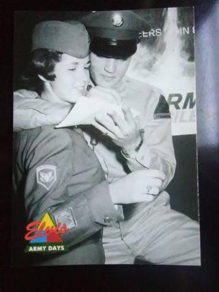 "1992 The Elvis Collection ""Army Days"" Card #47"