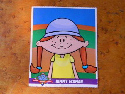 c2001 Humongous Entertainment Triple Threat Card / BBL Backyard Baseball League Card (Kimmy Eckman)