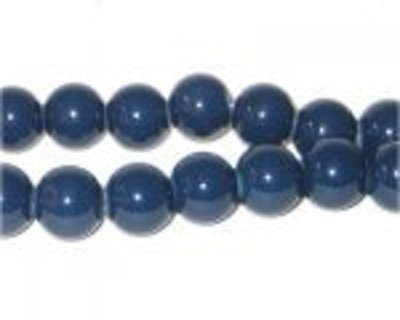 Four 10mm Midnight Blue Glass Spacer Bead
