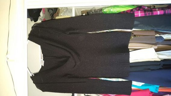 Black thin girlie hoodie. Size small