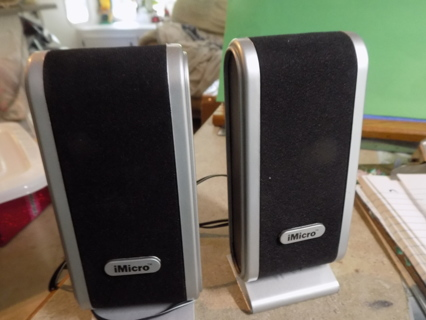Set of i Micro computer speakers New never been used