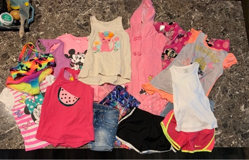Little girls 4t clothing  lot for spring&summer