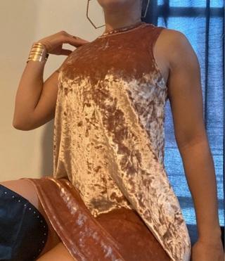 Forever 21 Crushed Velvet Dress Small