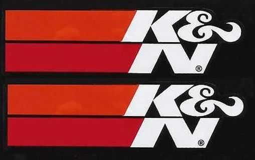 6 K & N Performance Filters decal/sticker assortment
