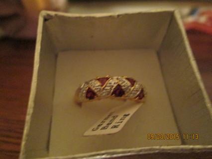 Beautiful Garnet Ring Size 7