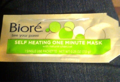Self heating one minute mask