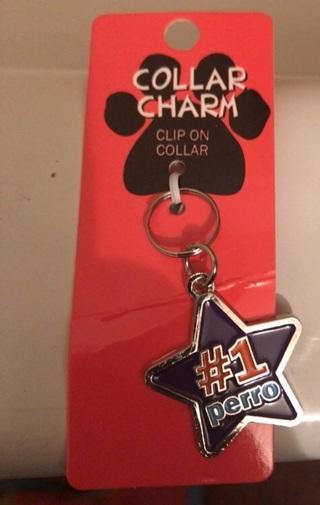"Dog Collar Charm ""#1 Perro"""
