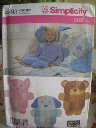 Free simplicity 4993 rag quilt wall hangings or throws for Simplicity craft pattern 4993