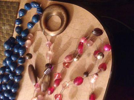 Necklace lot real pearls