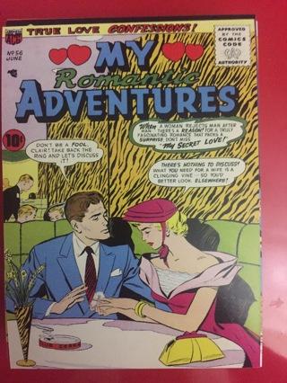 MY ROMANTIC ADVENTURES JUNE NO 56 COMIC POSTCARD