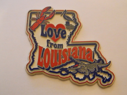 NEW MAGNET Love from Louisiana with Alligator - FREE Shipping!