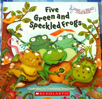"""""""Five Green Speckle Frogs"""" from Scholastic"""