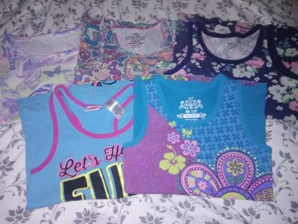 5 - Pre-Owned Little Girls Tank Tops