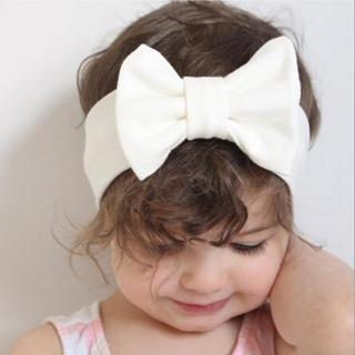 Baby Bowknot Headband Knitted Cotton Children Girls elastic hair bands Turban for girl Headbands S