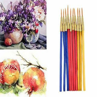 10x /1 Set Fine Hand-painted Thin Hook Line Pen Drawing Art Pens Paint Brush BB