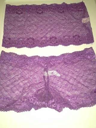 Lace Lingerie Set Lace Tube Top and Lace Boy Shorts ( Assorted Colors & Styles